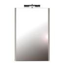 Зеркало со светильником M 560 в белой рамке Ravak