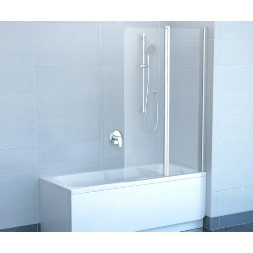 Шторка для ванной Ravak CVS2-100 R белый+стекло Transparent