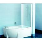 Шторка для ванной Ravak EVSK1-85 P ROSA 150/160 Wh+Wh Транспарент