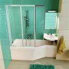 Шторка для ванной Ravak VS3 115 сатин + Транпарент