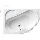Шторка для ванной Ravak VSK2 ROSA 140 L Транспарент