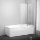 Шторка для ванн 10CVS2-100 L белая транспарент Ravak 7QLA0103Z1