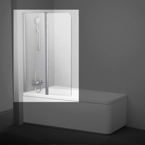 Шторка для ванн 10CVS2-100 R сатин транспарент Ravak 7QRA0U03Z1