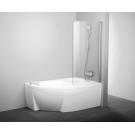 Шторка для ванн CVSK1 ROSA 140/150 R блестящая транспарент Ravak 7QRM0C00Y1