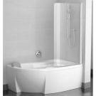 Шторка для ванн CVSK1 ROSA 140/150 R сатин транспарент Ravak 7QRM0U00Y1