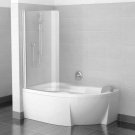 Шторка для ванн CVSK1 ROSA 160/170 L сатин транспарент Ravak 7QLS0U00Y1