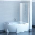 Шторка для ванн CVSK1 ROSA 160/170 R белая транспарент Ravak 7QRS0100Y1