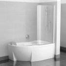 Шторка для ванн CVSK1 ROSA 160/170 R сатин транспарент Ravak 7QRS0U00Y1