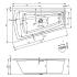 STILL SMART R 170х110 R Ванна акриловая асимметричная RIHO