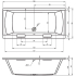 Riho Ванна акриловая MODENA 190х90х53 400 л прямоугольная