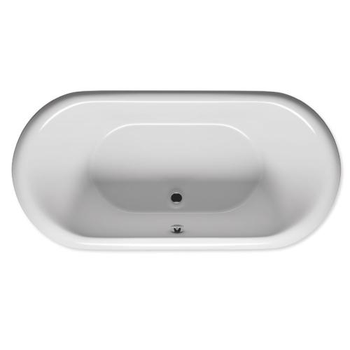 RIHO акриловая ванна DUA 180х86 с черной панелью (глянец) (Сифон и опора в комплекте)