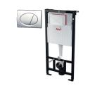 Инсталляция для подвесного унитаза Alcaplast (Комплект с кнопкой Хром) SET 3v1 AM101/1120+M71