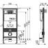 К400321 Комплект для установки подвесного унитаза с панелью смыва 9240321 ТЕСЕplanus хром глянц