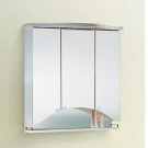 Шкаф-зеркало КАМЕРИНО 3-х дверный с подсветкой Aqwella Барселона Bo.04.08.G Белый