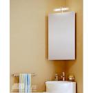 Шкафчик навесной угловой с зеркалом и подсветкой Aqwella Дельта Del.04.33 Белый