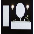 Зеркало в раме (овал) Aqwella Элеганс Белое