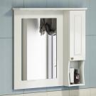 COMFORTY Зеркало-шкаф Палермо-80 белый
