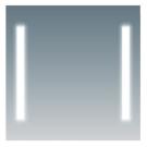 COMFORTY Зеркало Жасмин-85 светодиодная лента сенсор 850х650