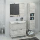 COMFORTY Шкаф-колонна Бремен-35 дуб белый
