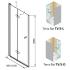 TERRA FLAT TVS 100 Kolpa-San дверь в нишу