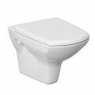 УнитазCarina Clean on белый подвесной с сидением дюропласт микролифт Cersanit безободковый 31090