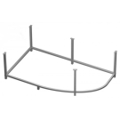 501046 Рама-каркас для ассиметричной ванны Virgo 150 метал в комплекте со сборочным пакетом Cersanit