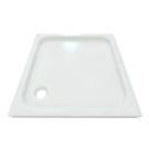 Душевой поддон из литого мрамора 90х90 квадратный гладкое дно Aquatek