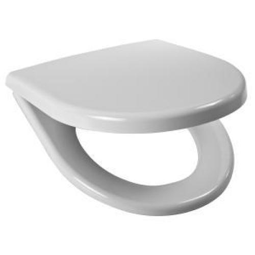 Сидение Era белое дюропласт стальные петли антибак. обработка с крышкой Jika 9153.3