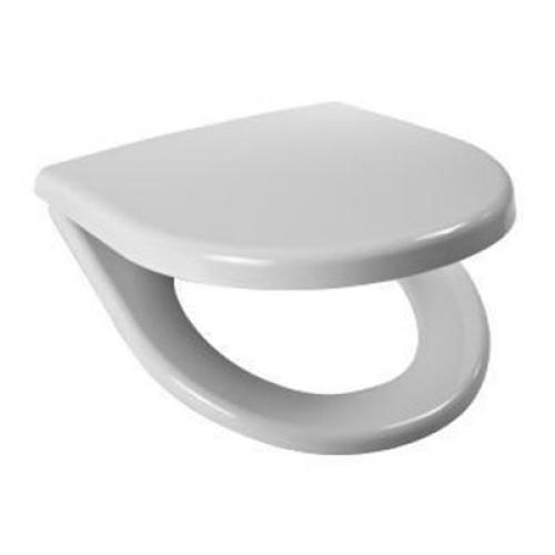 Сидение Lyra plus белое дюропласт стальные петли антибак. обработка с крышкой Jika 9338.0