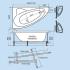 Акриловая ванна Тритон Изабель 170х100
