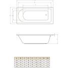 Rea 150x70 Прямоугольная ванна С-bath