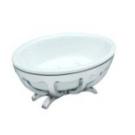 10T6-10 APPOGIO Мыльница настольная (белая керамика модерн) цвет хром Dededimos
