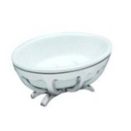 10T6-40 APPOGIO Мыльница настольная (белая керамика модерн) цвет бронза Dededimos