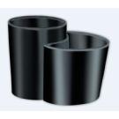 22T1-OМ APPOGIO Стакан фарфоровый настольный двойной цвет черный Dededimos