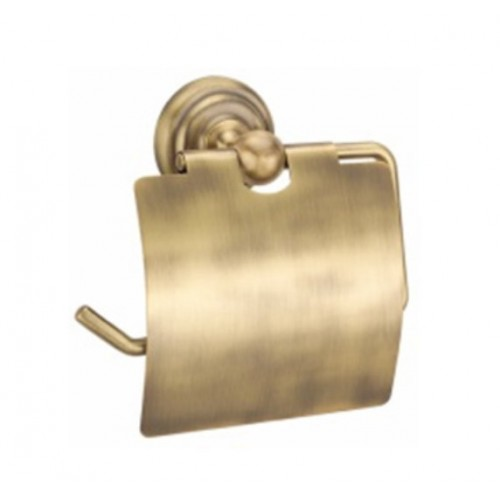 5016-40 TORONTO Держатель для тулетной бумаги с крышкой 135х7х15 бронза Dededimos