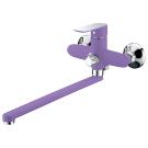 Тритон 16307 Z Смеситель Triton для ванны длинный излив однорычажный фиолетовый