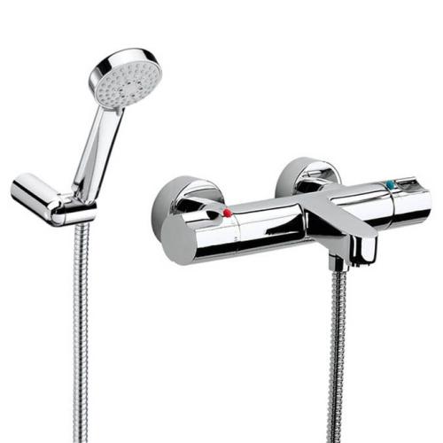 Roca 5A1146C02 смеситель для ванны и душа с термостатом MOAL ручной душ шланг 170 (хром)
