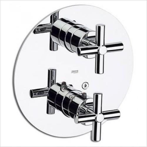 Roca 5A0743C00 термостат LOFT встраиваемый для ванны душа (хром)