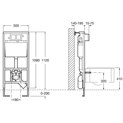 Roca 890090000 инсталляционная система PRO WC (d90)