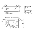 Roca 248165000 ванна HALL ANGULAR акриловая правая 150х100 (белый)