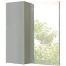 COMFORTY Зеркало-шкаф Рим-60 серый