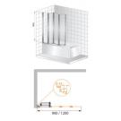 Шторка для ванной Cezares TRIO-V-3-90/140-C-Cr-L