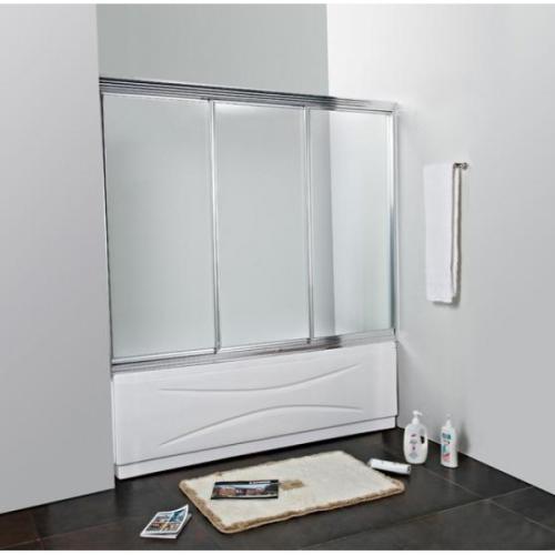 Шторка для ванной Cezares FAMILY-V-3-160/140-P-Cr
