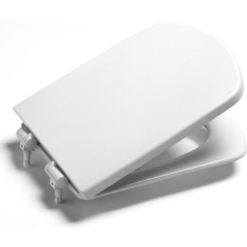 Roca 801511004 Сидение Dama Senso белое с крышкой с хромированными петлями