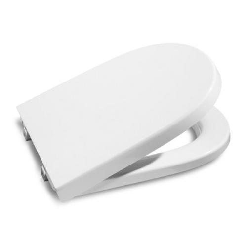 Roca 8012AB004 Сидение Meridian-N Compact белое с крышкой петли из нерж. стали