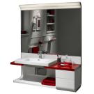 Ассиметричный модульный Khroma правы комплект с ящиками для раковин 60/70/80 135 см венге Roca 855705001