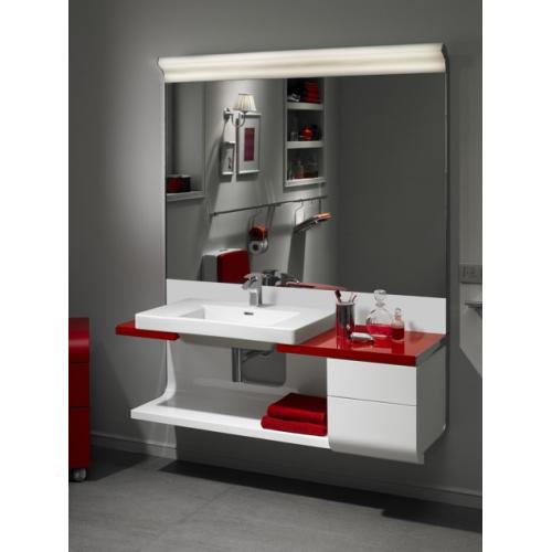 Ассиметричный модульный Khroma правый комплект с ящиками для накладных раковин 40/75 см 135 см красный Roca 855708F3T