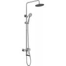 BelBagno NOV-VSCM-IN Душевая колонна со смесителем для ванны с верхним и ручным душем нержавеющая сталь сатин