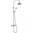 BelBagno SLI-DOC-CRM/Foglio Душевая колонна со смесителем для верхнего и ручного душа регулируемым верхним душем в комплекте с ручным душем