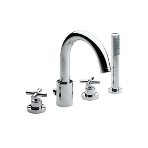Roca 5A0943C00 Монтируемый на край ванны смеситель Loft с высоким изливом для ванны и душа